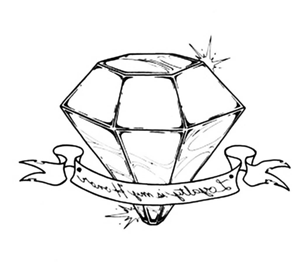 1024x925 How To Draw A 3D Diamond 3D Diamond Drawing Diamond Pinterest