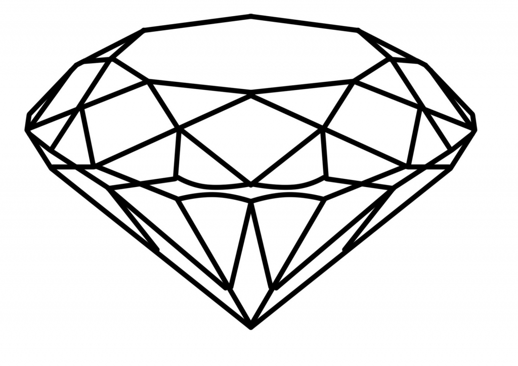 1024x724 How To Draw A 3D Diamond How To Draw A Diamond Free Download