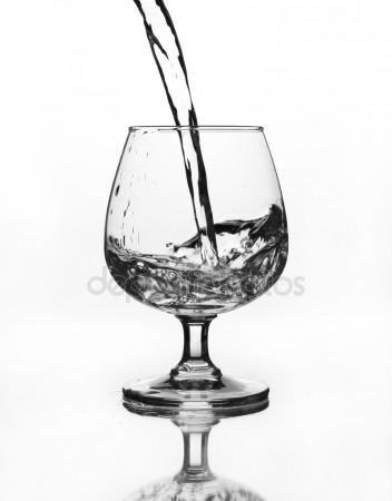 352x450 Glass With Water Or Vodka, 3d Rendering Stock Photo Alexlmx