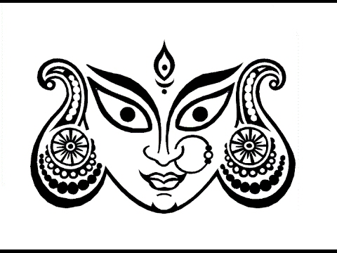 480x360 How To Draw Maa Durga Face Step By Step