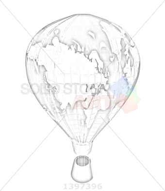 340x392 Stock Photo Of Hot Air Balloons As The Earth With Gondola