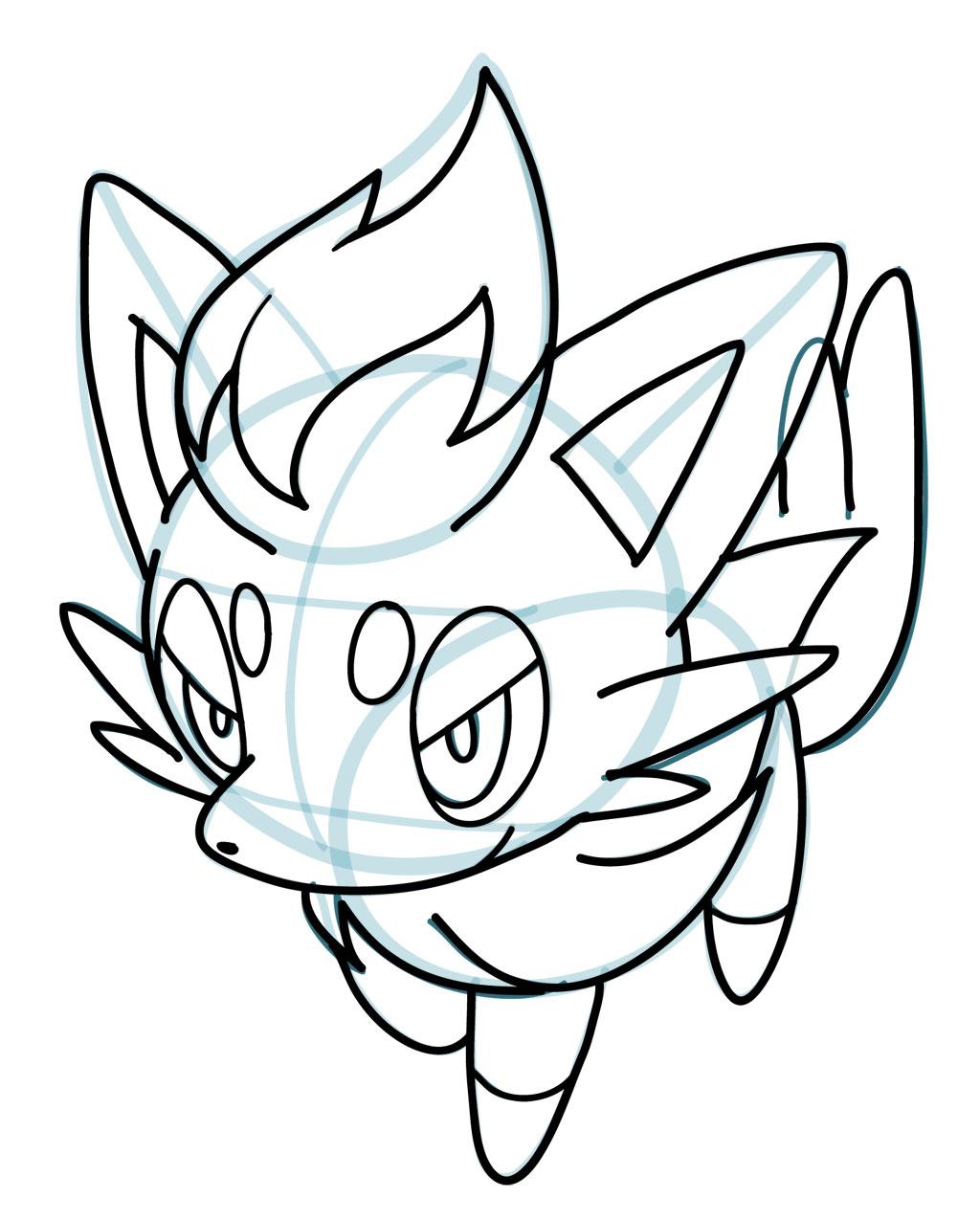 1024x1275 How To Draw Zorua Pokemon How To Draw Manga 3d Drawing Tips