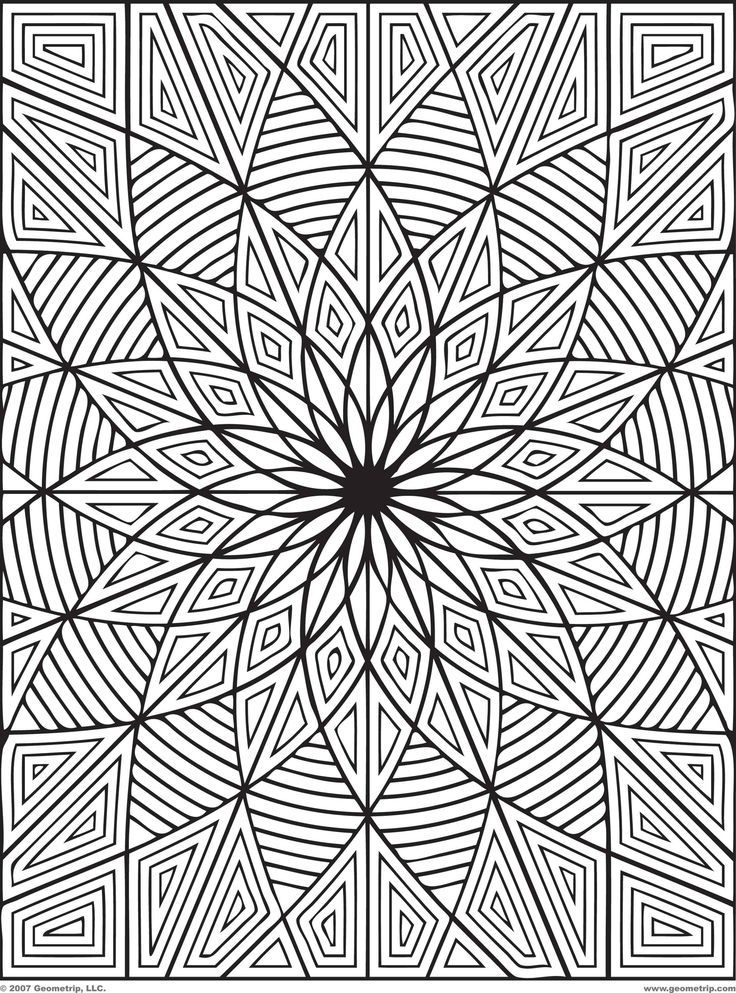 736x993 3d Coloring Sheets Difficult Hard Flower Coloring Pages