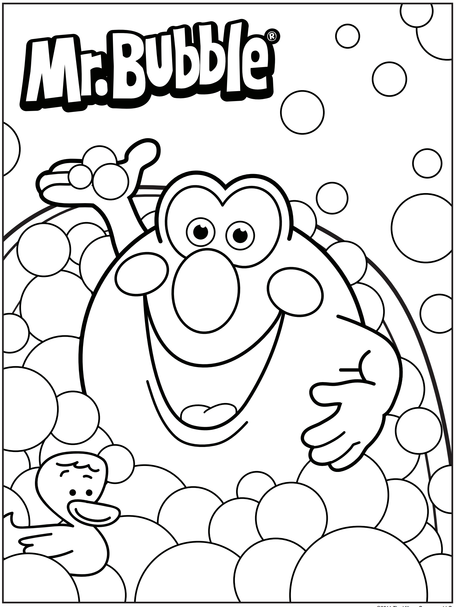 1462x1946 Bath Time 3d Coloring Pages