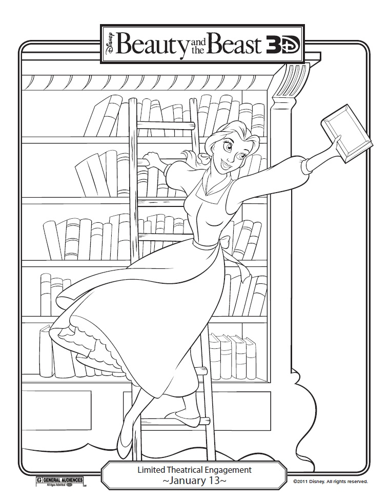 759x980 Beauty Amp The Beast 3d Coloring Pages Beast, 3d And Coloring Books