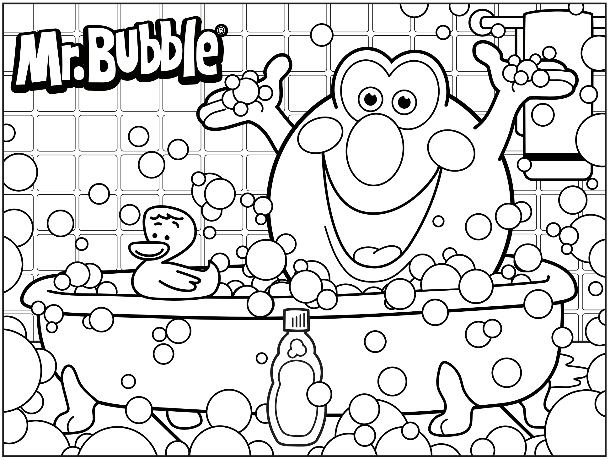 1944x1464 Bubbles Coloring Page Printable
