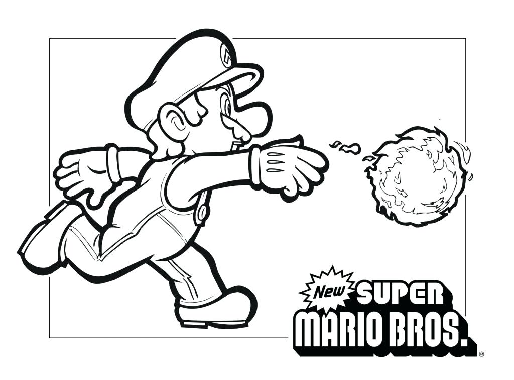 1024x756 Fresh Mario 3d World Coloring Pages Kids Kart 7 Printable And New