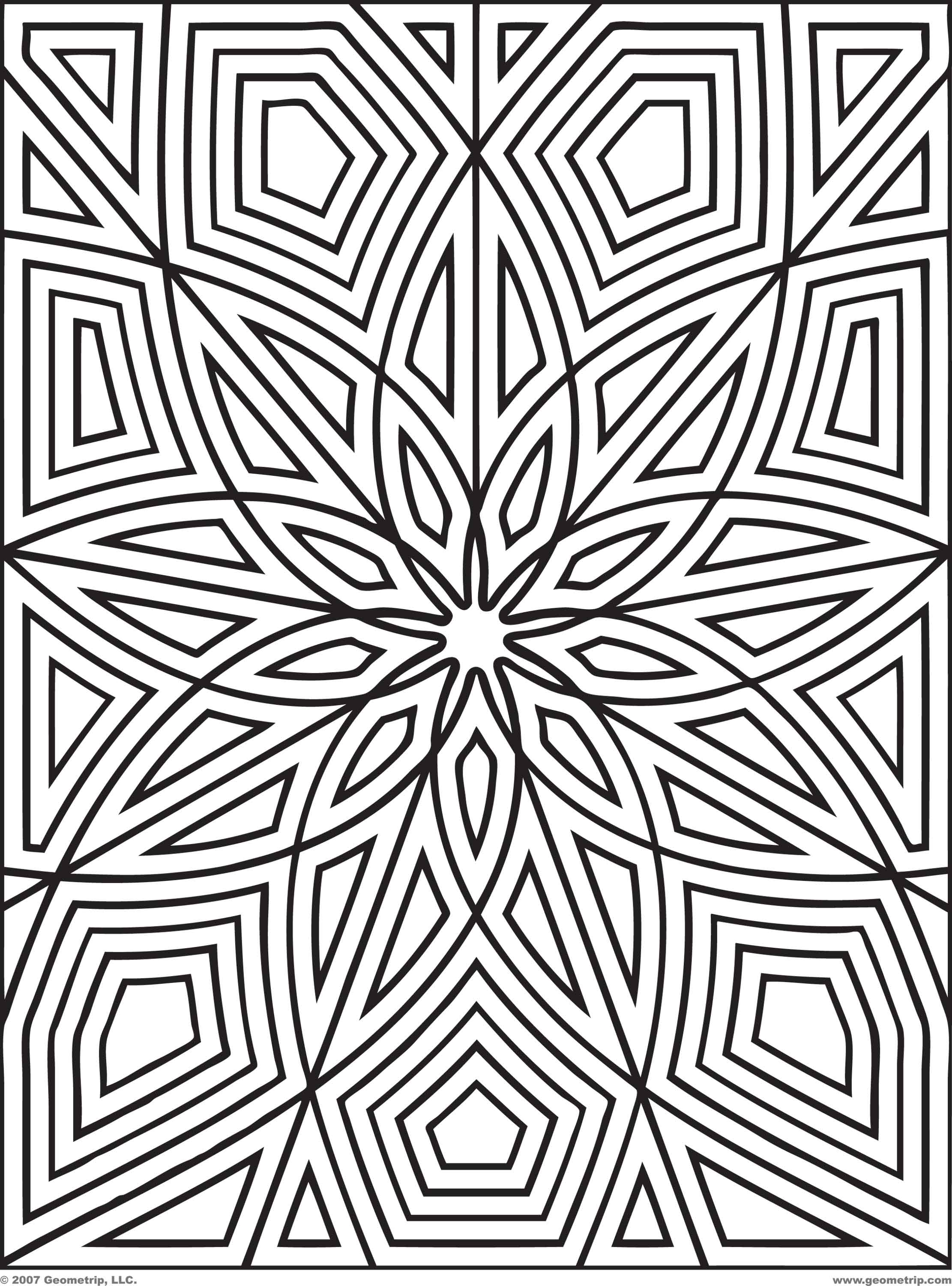 2222x3000 Geometric Coloring Pages To Print 3d Illusion Geometric Coloring