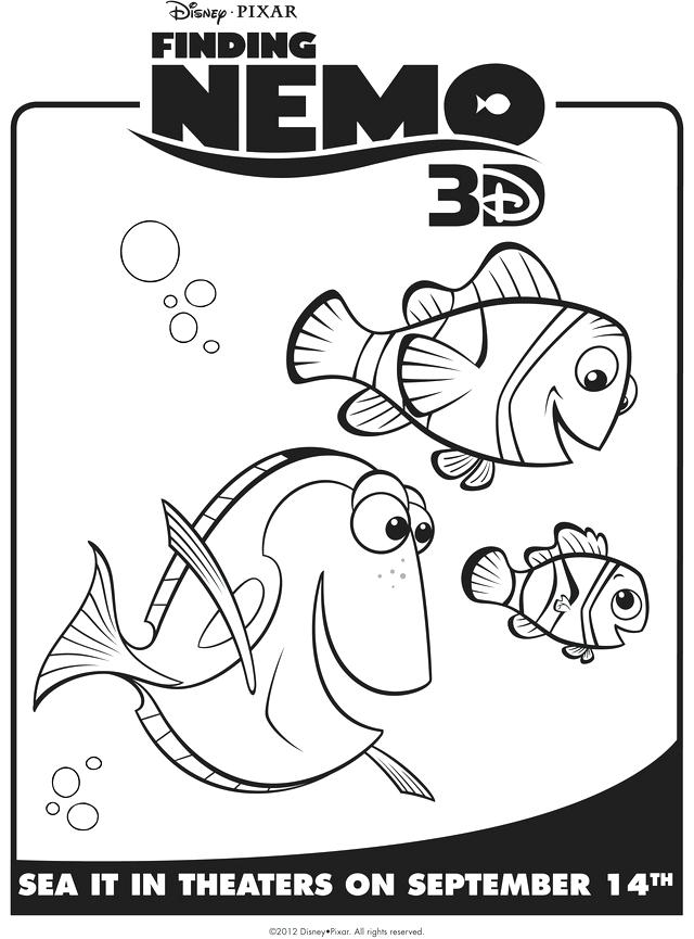 640x865 3d Coloring Pages Printable Coloring Pages To Print Marlin Dory