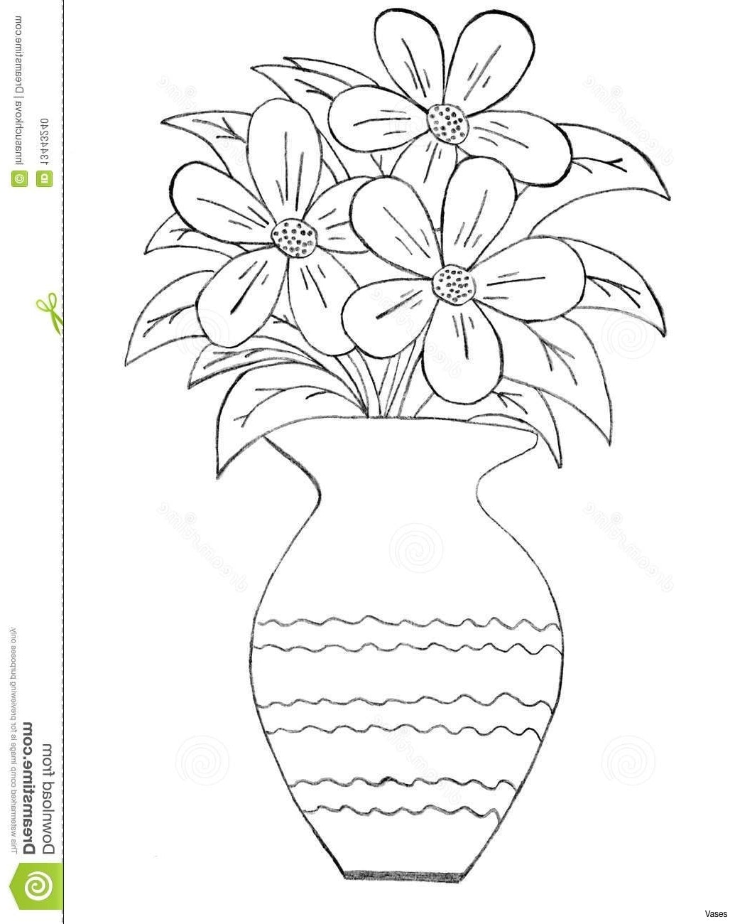 1035x1300 4518377h Vases How To Draw Vase Of Flowers A Easy Things Drawing
