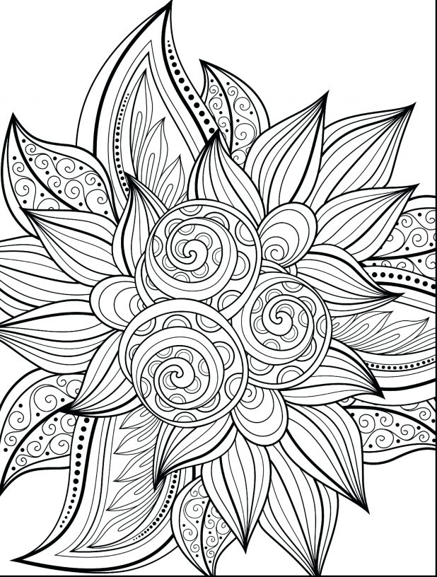618x816 Cool Flower Coloring Pages Via Spring Print Outs 3d Printouts