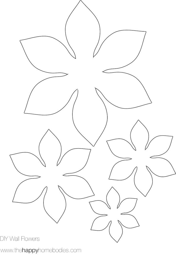 736x1070 3d Flower Template Printable World Of Printable And Chart