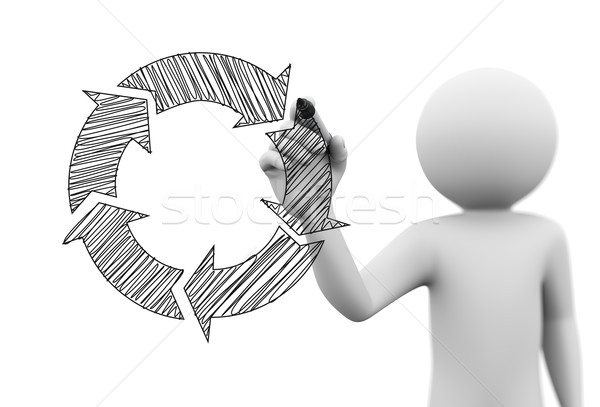 600x407 3d Person Drawing Flow Chart On Transparent Screen Stock Photo