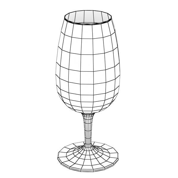 600x600 6 Wine Bottles And 6 Wine Glasses. 3d Model