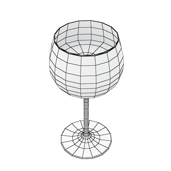 600x600 6 Wine Glass Collection 3d Model Collections Of 3d Models