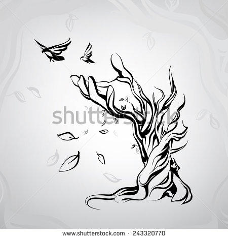 450x470 Ancient Tree In The Form Of A Hand My Personal Drawing And 3d