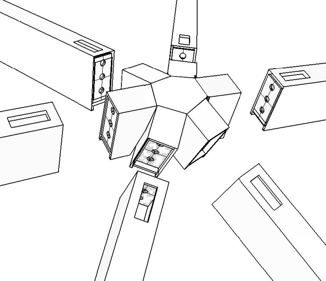 1106x954 Complex Nodes Designed With 3d Software By Seele Provide The Steel