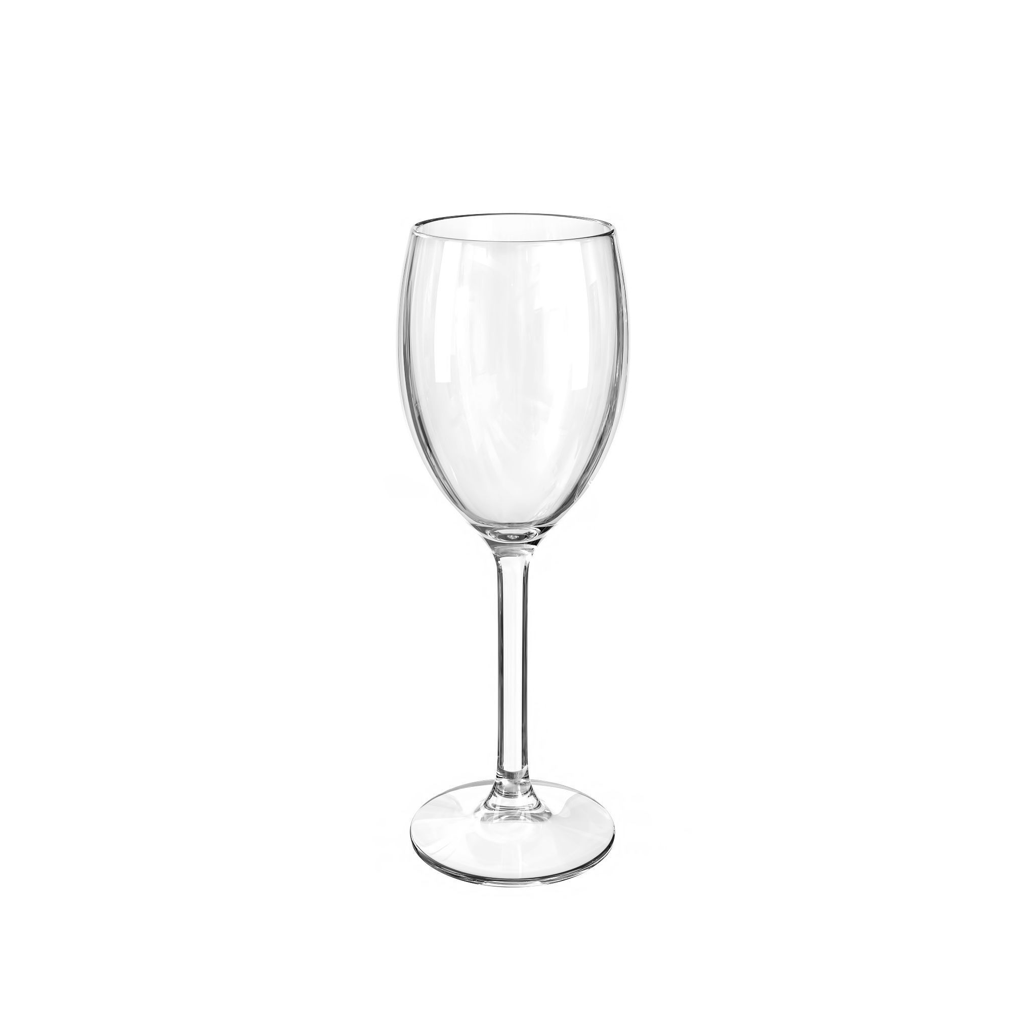 2000x2000 Empty Wine Glass 3d Cgtrader