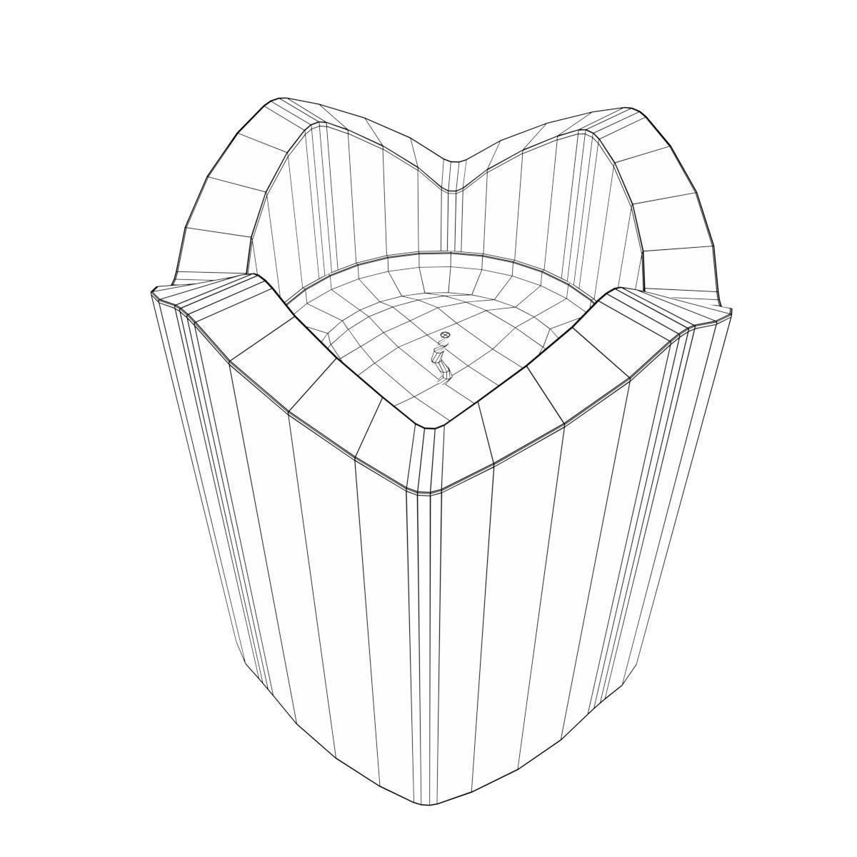 1200x1200 Glass Candle Holder 3d Model Low Poly Cgtrader