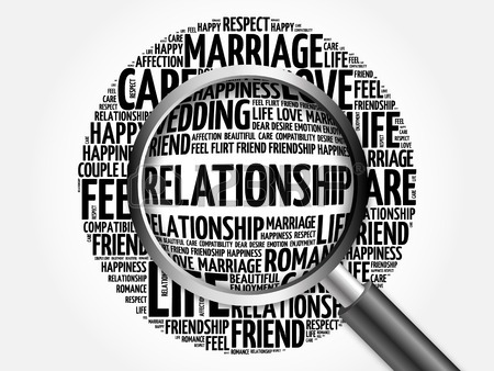 450x338 Relationship Word Cloud With Magnifying Glass, Business Concept