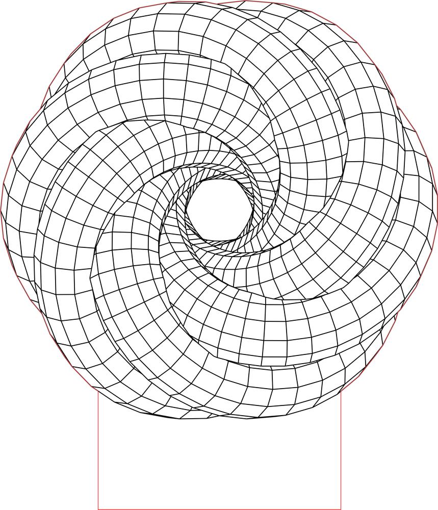 859x1000 Spiral Led 3d Illusion Lamp Vector File 3d Geometric Designs
