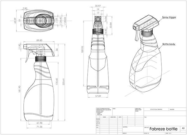 600x433 Orthogonal Projections Bottle Proiezioni Ortogonali