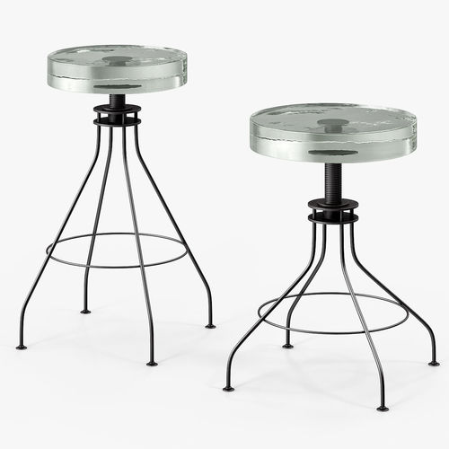 500x500 3d Asset Holly Hunt Glass Stool Cgtrader