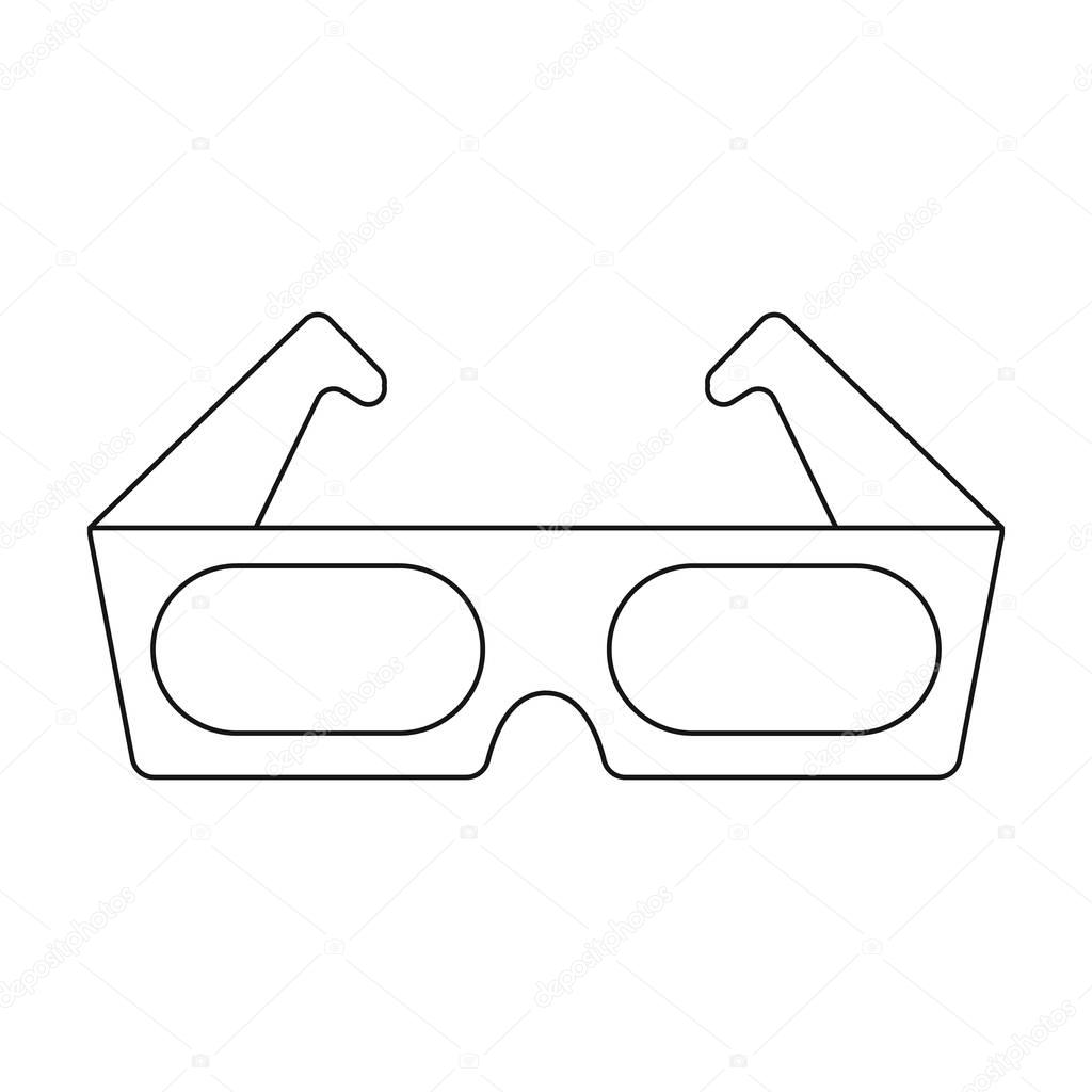 1024x1024 Anaglyph 3d Glasses Icon In Outline Style Isolated On White