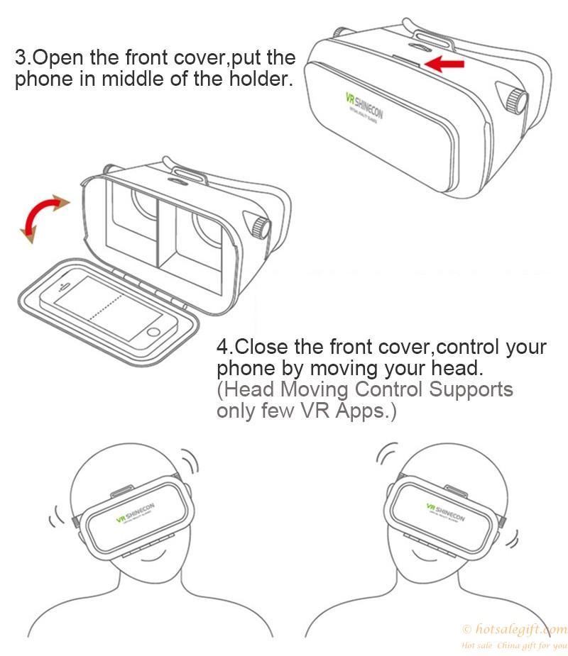 800x925 Vr Box Headset Virtual Reality 3d Glasses Helmet For Iphone