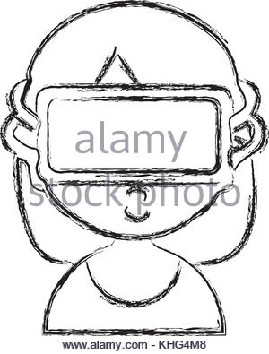 300x395 Figure 3d Glasses Technology To Dimension Experience Stock Vector