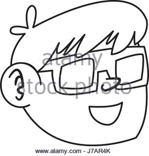 307x320 Nice Boy Using 3d Glasses Stock Vector Art Amp Illustration, Vector