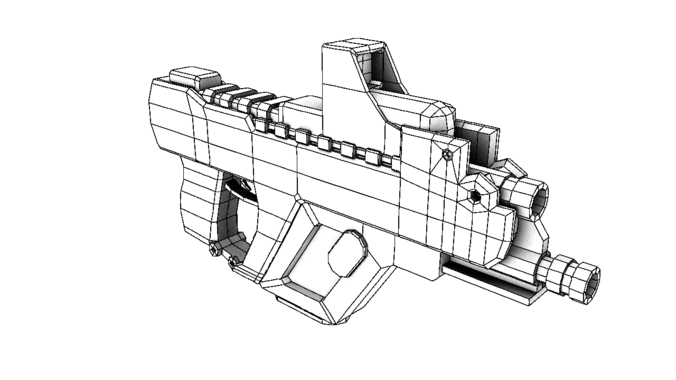 3d Gun Drawing