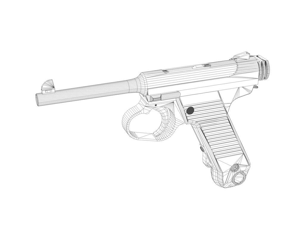 1024x769 Nambu Pistol Typ14 Taisho 14 3d Model In Pistol 3dexport