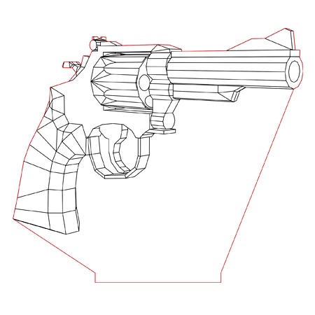 450x450 Smith Amp Wesson Mag. 38 3d Illusion Lamp Plan Vector File For Cnc