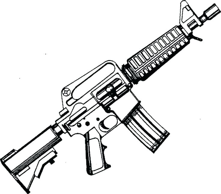 736x646 Top Rated Gun Coloring Pages Images Coloring Page Machine Gun