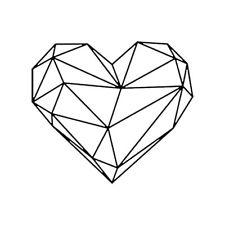 225x225 Geometric Heart Wall Sticker Removable 3d Pvc Decal Art Custom