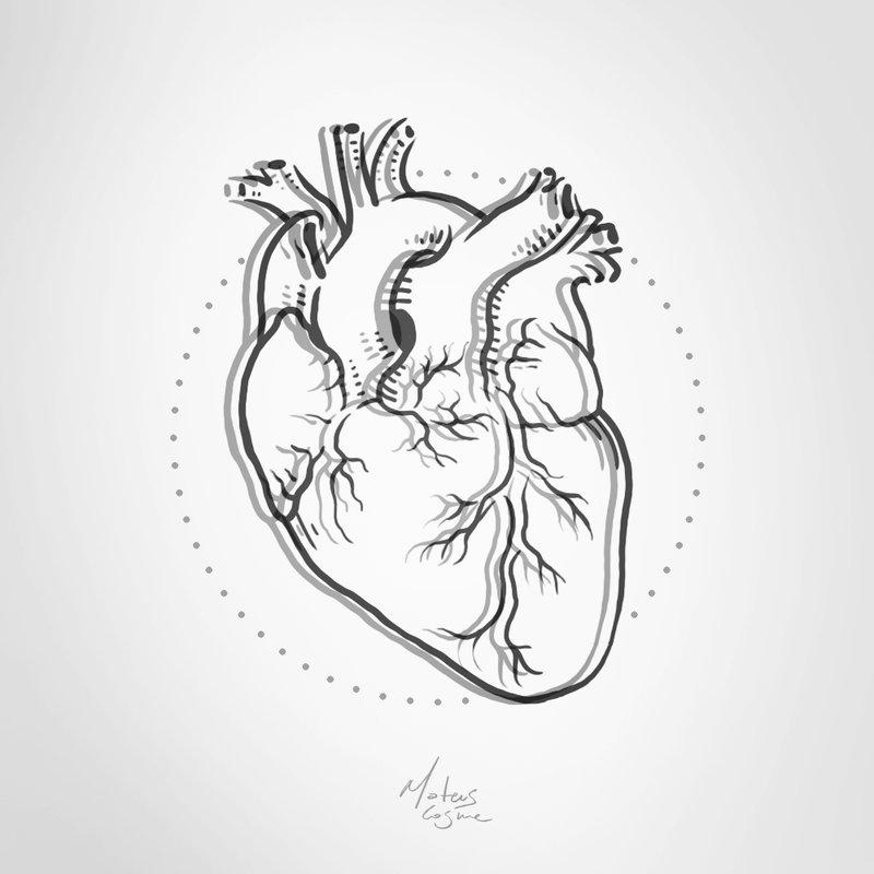 800x800 Pseudo 3d Heart Tattoo Design By Mateuscosme