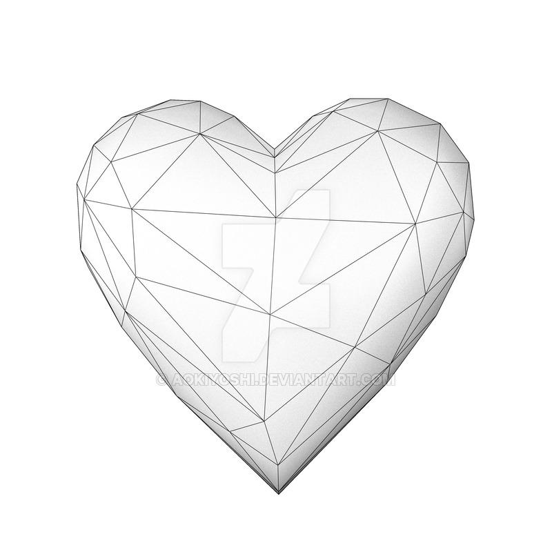 800x800 Wireframe Heart By Aokiyoshi