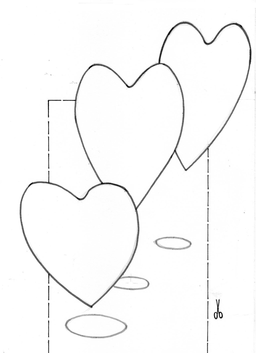 1024x1409 Coloring 3d Hearts By Vamosart