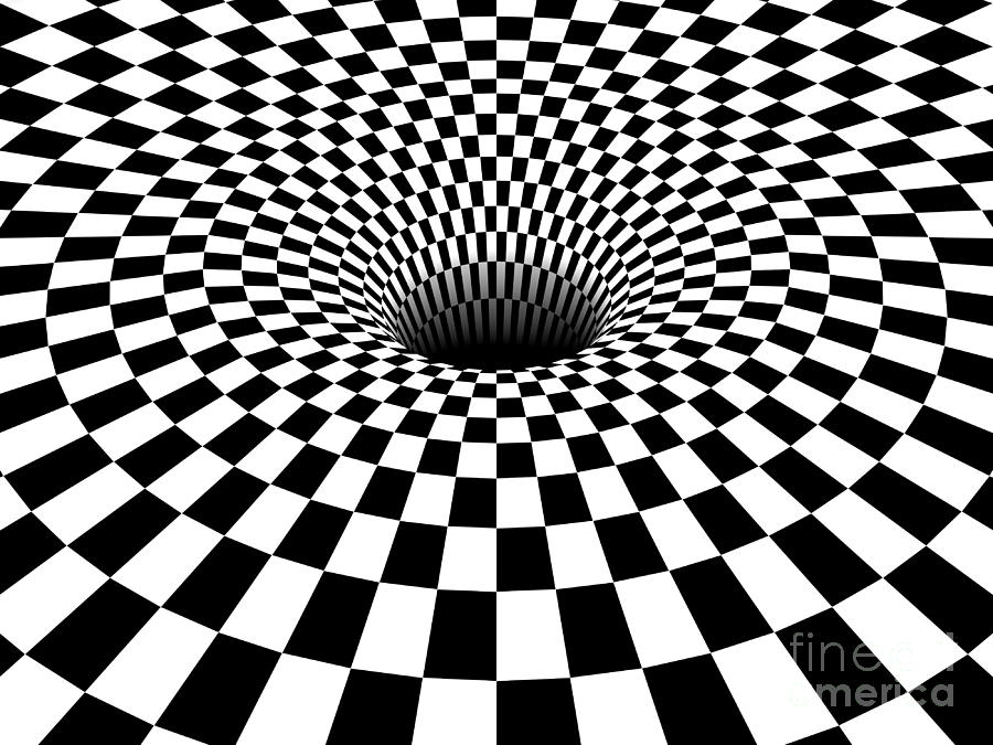 900x675 3d checkered black hole