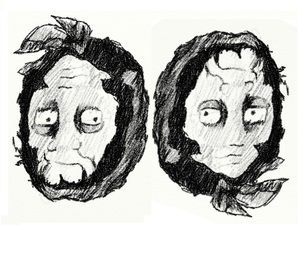 306x255 Draw 1 Head 2 Faces Optical Illusion Old, Young Lady. Illusions
