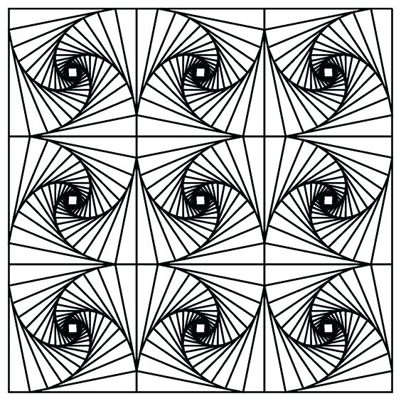 564x564 Optical Illusions Coloring Pages Op Art Coloring Pages Optical