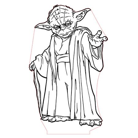 450x450 Yoda 3d Illusion Lamp Plan Vector File For Cnc