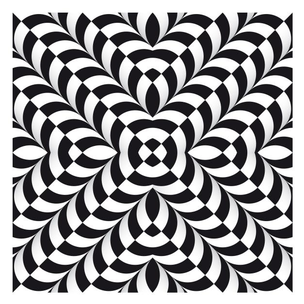 627x627 Op Art Chequerboard Tubes Acid Stuff Op Art And 3d