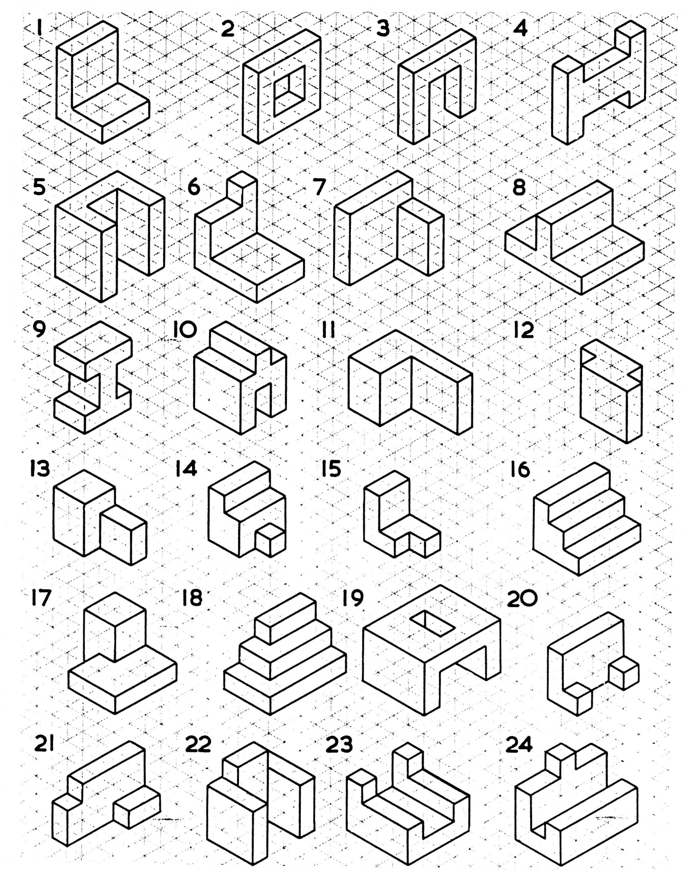 2319x2912 Simple Isometric Drawing Exercises Isometric Drawing Examples Got