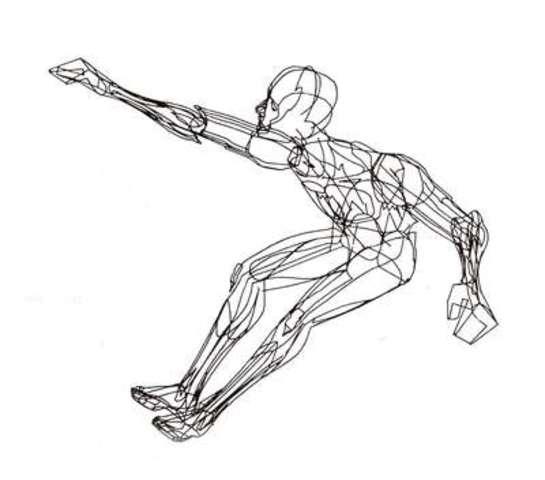 3d Man Drawing