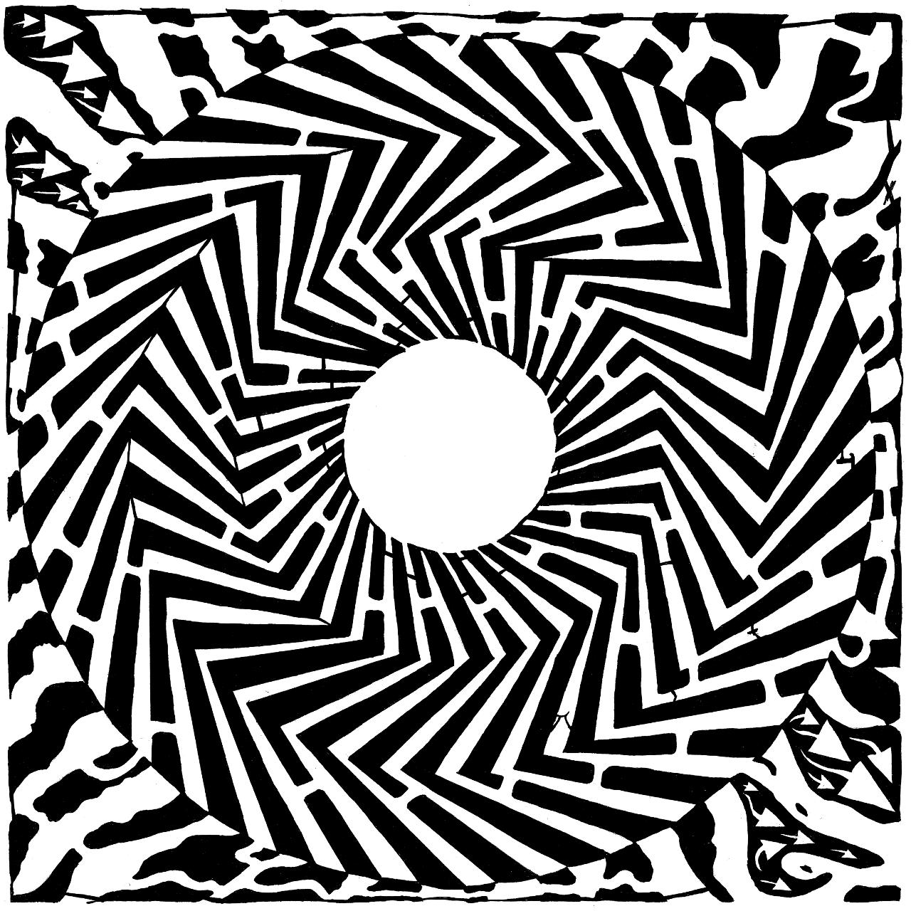 1280x1280 Psychedelic Maze Optical Illusion Yonatan Frimer Optical