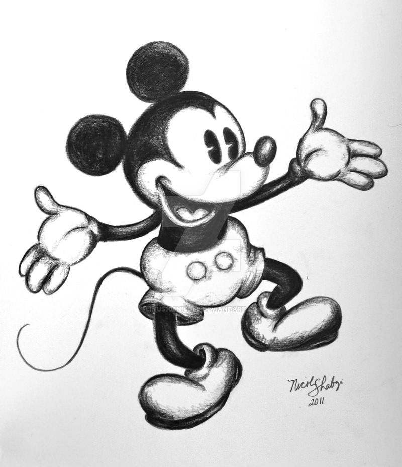3d Mickey Mouse Drawing