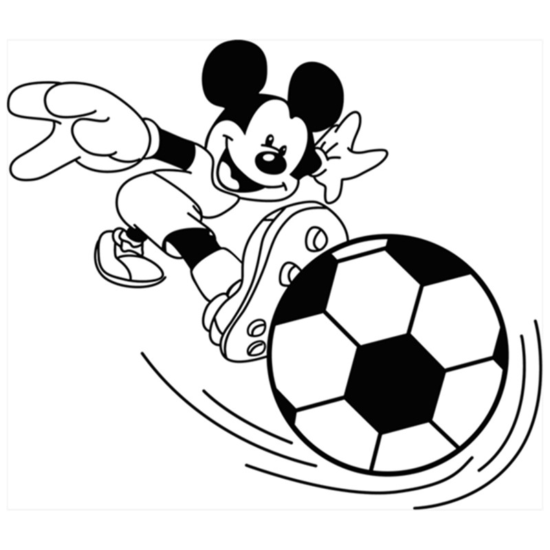 800x800 Boys Gift Anime Wall Stickers Mickey Mouse Plays Football 3d Vinyl
