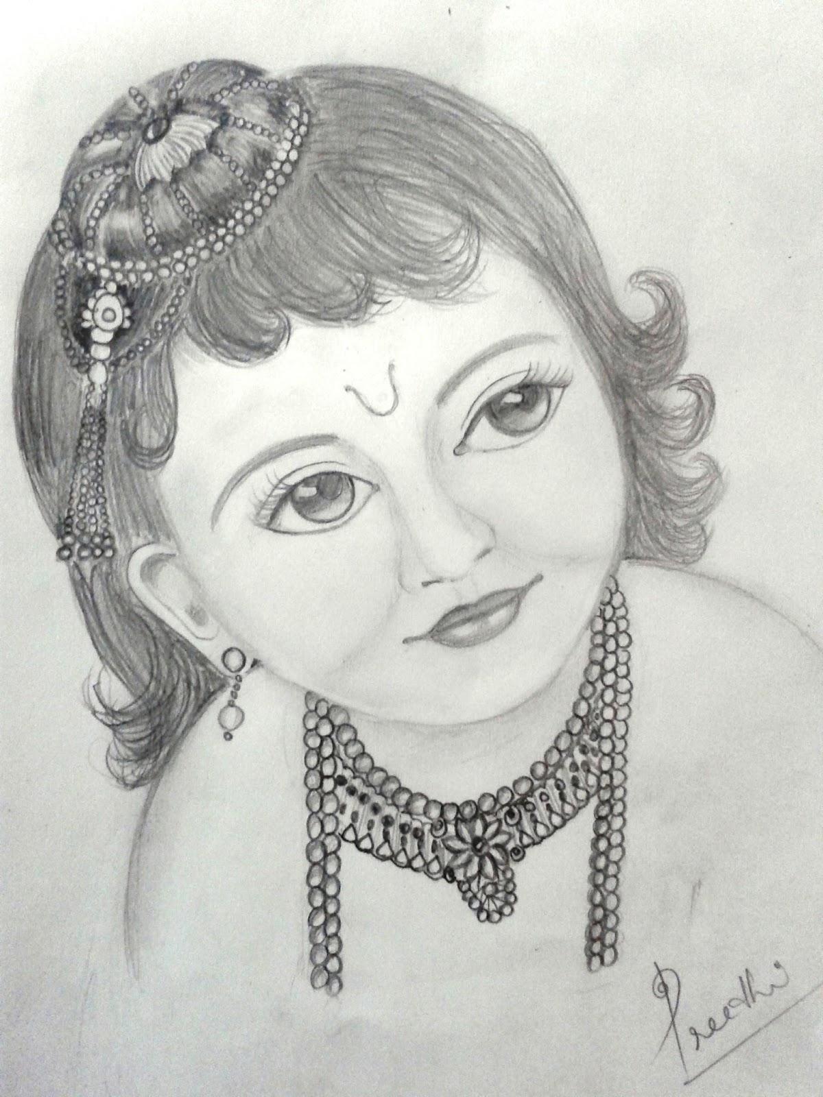 1200x1600 3d Radha Krishna Pencil